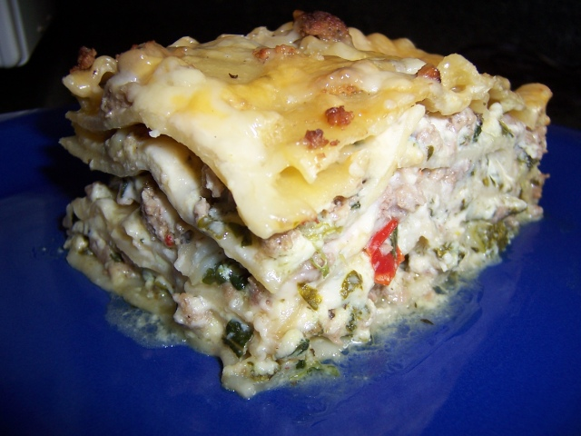 Delicious Turkey Lasagna with Vegetables and Alfredo Sauce ...