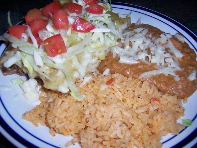 Beef Enchilada plate 2